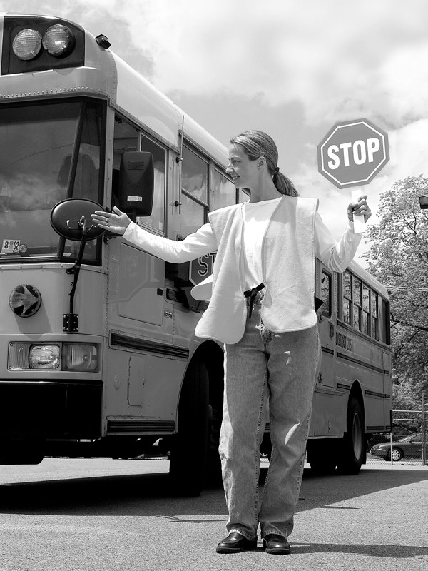 Safe routes thanks to trained crossing guards