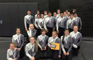 Percussion section collects medals