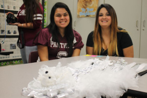 Mariah and Jackie Delgado enjoy spending time together during the high school's Freaky Friday event.