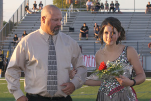 Princeton senior Lindsey Tarby was named the Homecoming Queen for 2015. Tarby was escorted by her father Adam Tarby during the festivities.