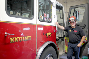 Captain Steve Gammons became the first full-time paid Captain for the Princeton Fire Department after 10 years of service.