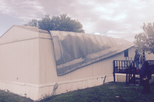 Significant storm damage occurred to a mobile home in the Princeton Village mobile home park during severe storms Nov. 17. The home is located on 78 Collin Circle.