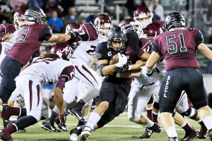 George Flores gets away from Athens defense at the line of scrimmage