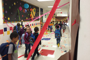 Smith Elementary School Kindergarteners arrived to a trashed school after bears participating in the Teddy Bear sleepover created much chaos at the school.