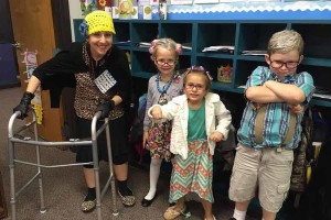 Lacy Elementary School celebrates the 100th day of school with some new senior citizens.  Students completed a variety of activities centered around the 100th day of school. Ms. Gerfers, Rylie Cottongame, Braydin Burns and Nathan Rodriguez participated in 100th day activities.