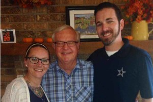 Dana Ashley poses with her brother Justin Ashley, far right, and Jim Luna, center, the recipient of her father's heart.