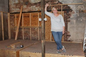 Rev. Cathy Partridge is looking forward to her flock having a building of their own downtown for Christ United Methodist Church at 301 Main Street which is being remodeled.