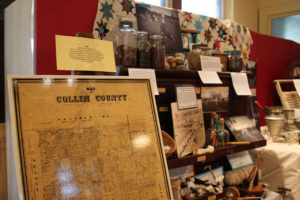 Exhibits from early Collin County history and from the life of Collin McKinney are on display at the Collin County History Museum in McKinney.