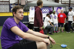 National Honor Society member Ryan Purcella and a cancer survivor recently participated in Relay for Life.