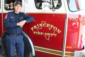 Captain Blake Carroll joins Princeton Fire Department.