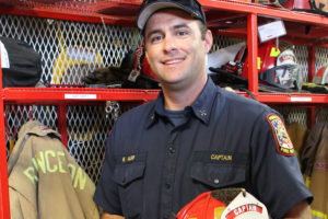 Longtime Princeton Fire Department volunteer Ben Harp started work last week as a newly promoted captain, a paid position with the department.