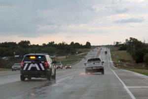 Multiple agencies pursue a stolen vehicle down Hwy. 380 after a 45-minute pursuit.