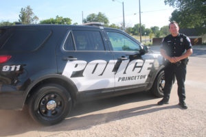 Newly promotion Corporal Chase Alexander drives a new Ford Explorer Princeton PD police cruiser. Cpl. Alexander has worked within the Princeton PD since 2012.