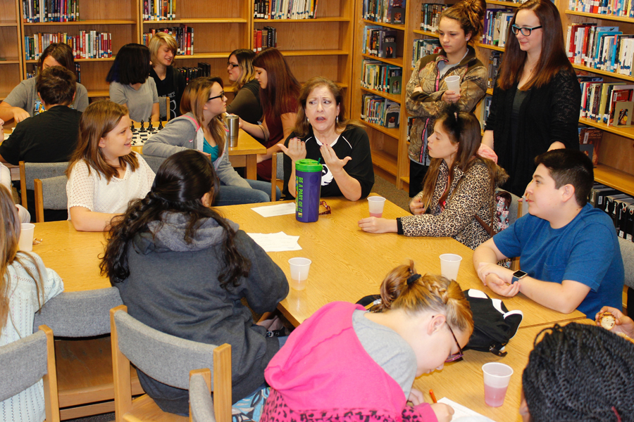 Extra, extra, read all about it: Clark Junior High forms book club