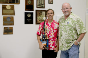 PHS senior Michael Roets, Jr. recently came out on top in a Hawaiian debate tournament where he faced off against teams around the world. His debate teacher Mr. Jimmy Smith accompanied the senior on the trip.