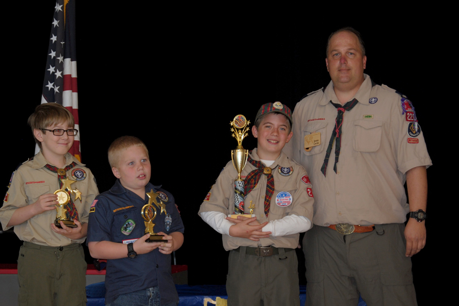 Pinewood Derby racers compete