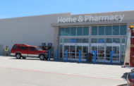 Truck strikes bollards at Walmart
