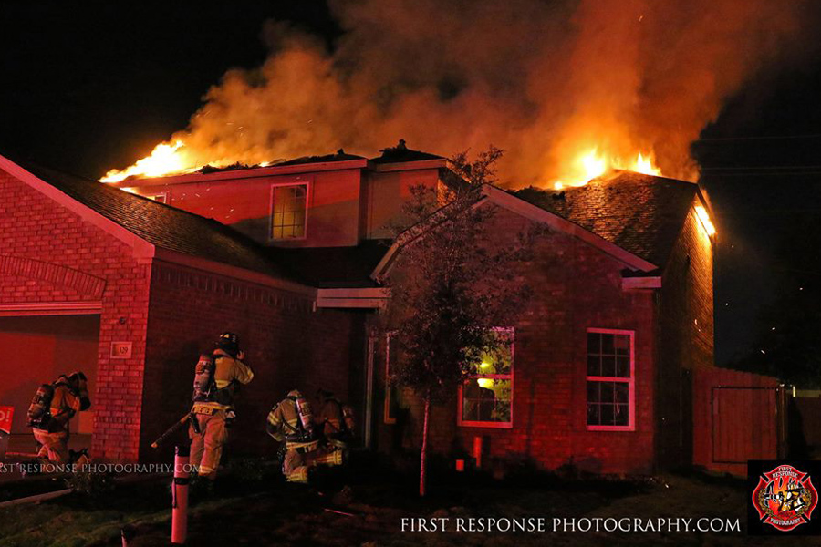 Multiple departments battle blaze