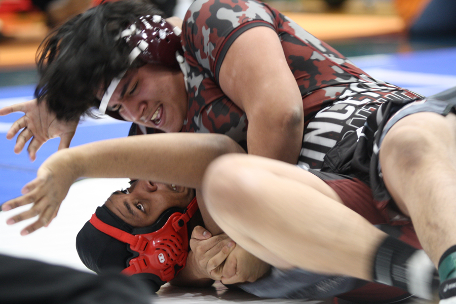 Grappling glory: Girls win 9-5A title, boys claim ninth