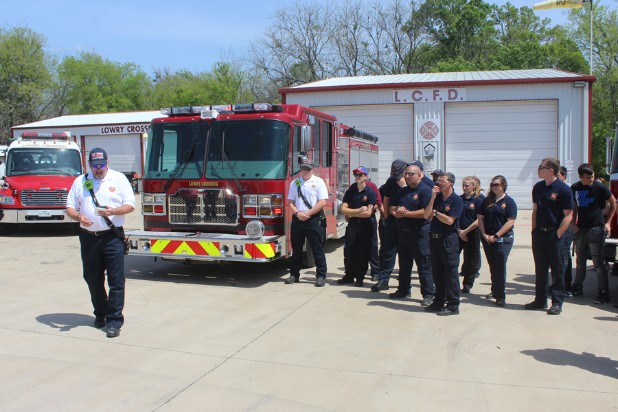 Fire engine dedicated for Lowry Crossing