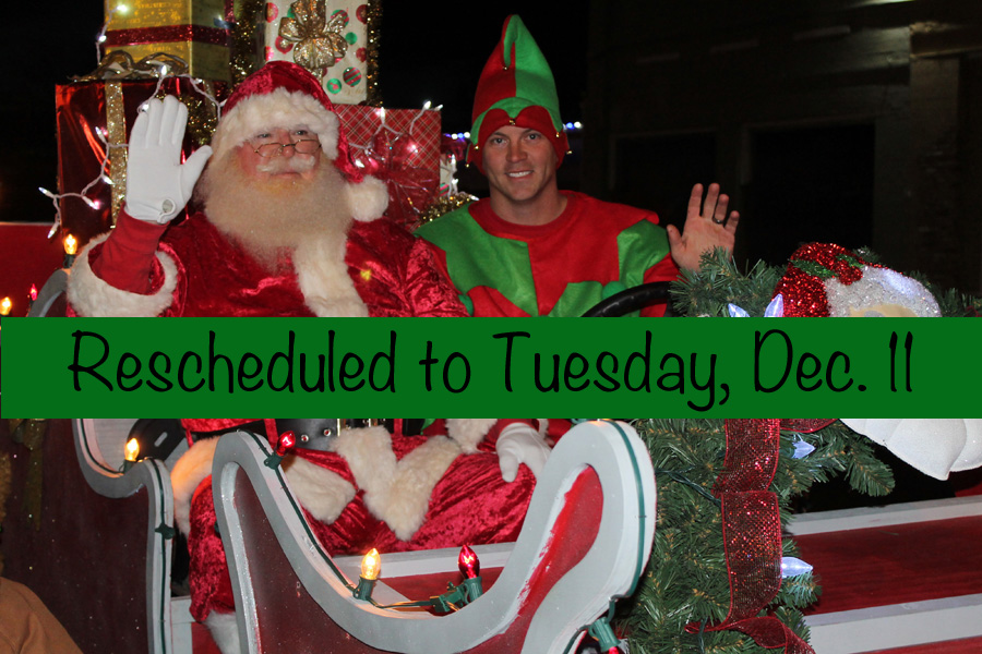 Christmas parade, tree lighting rescheduled to Tuesday