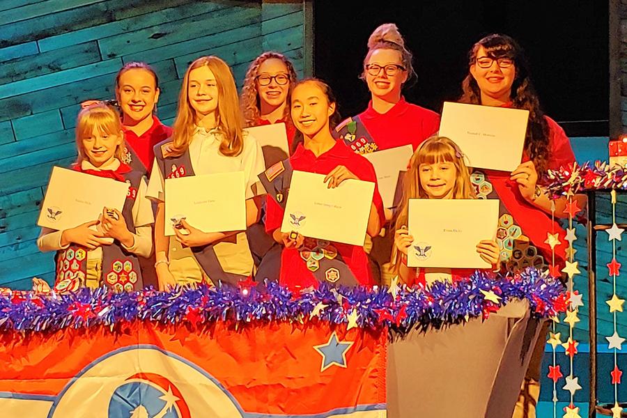 American Heritage Girls Troop members recognized for volunteer efforts