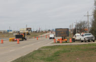 Caution advised as median project moves through town