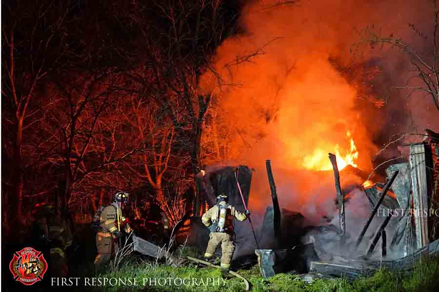 Departments fight barn fire overnight