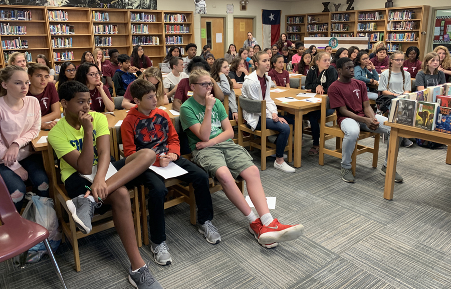 Clark students learn about hope, courage from guest speaker