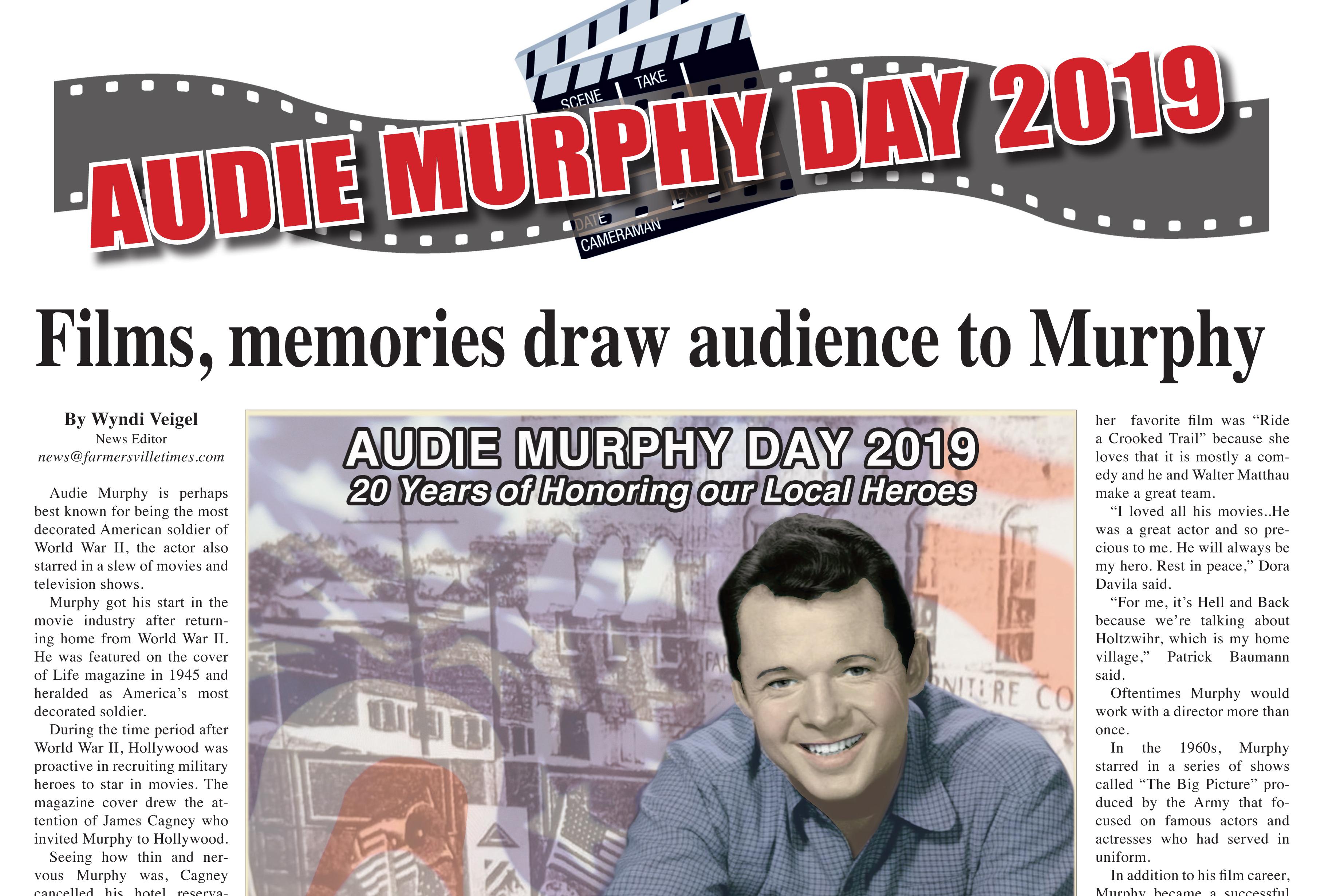 Films, memories draw audience to Murphy