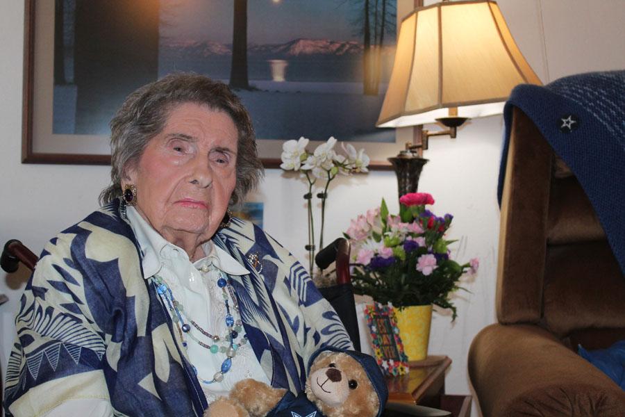 Centenarian loves spending time with family