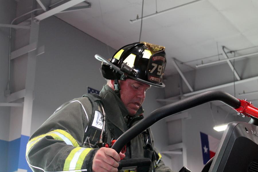 Firefighters participate in 9/11 memorial