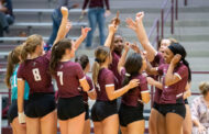 Lady Panthers get ready for volleyball