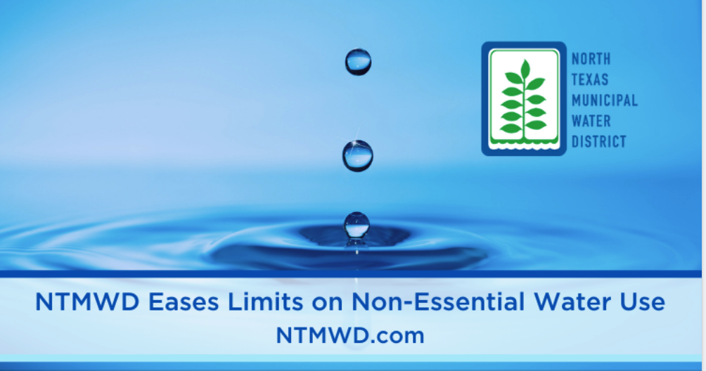 NTMWD eases limits on non-essential water use