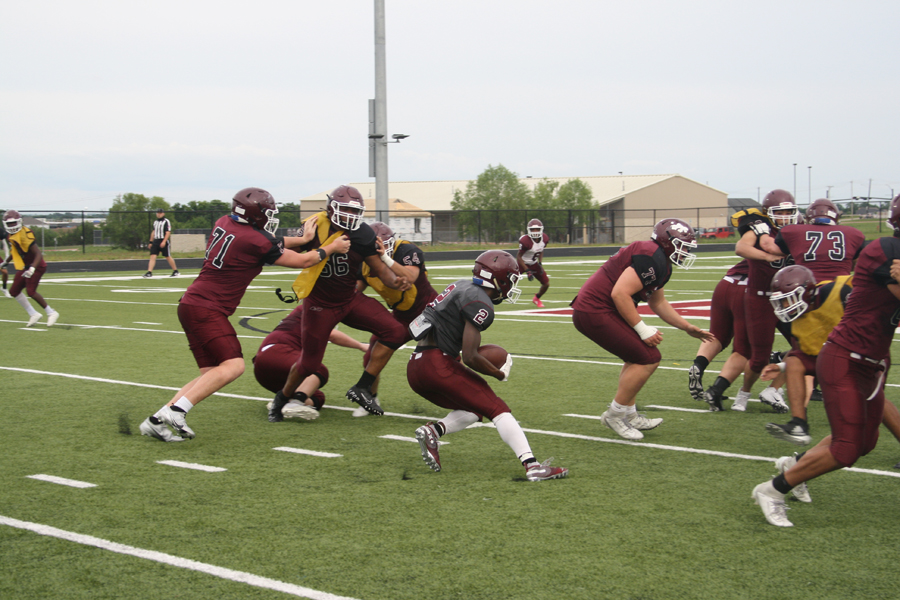 Panthers close spring practices in scrimmage