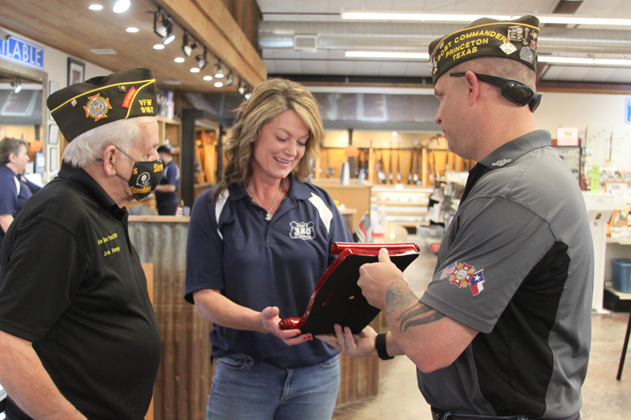 VFW honors local business