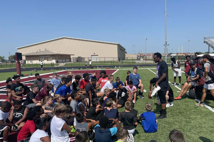 Panthers host youth football camp